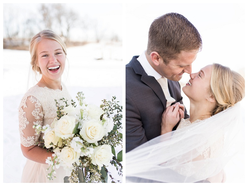 Brenda & Steven – Winter Wedding Portraits